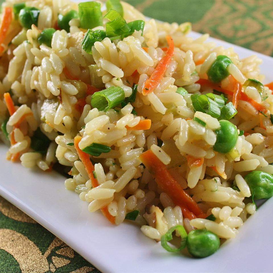 Confetti Rice with Carrot, Celery, and Almonds naples34102