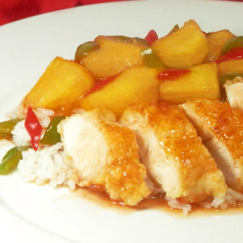 "This quick-and-easy chicken dish features a tangy sauce with chicken broth, cider vinegar, and a touch of soy sauce. ""This is a great recipe to satisfy that Chinese food craving without the grease and thickly battered meat pieces,"" says MarissaB. ""We loved the sauce and how tender the chicken was. And to have as much veggies as we wanted was great."""