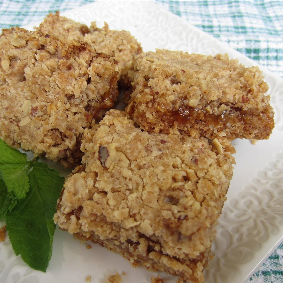 Nutty Oatmeal Apricot Squares