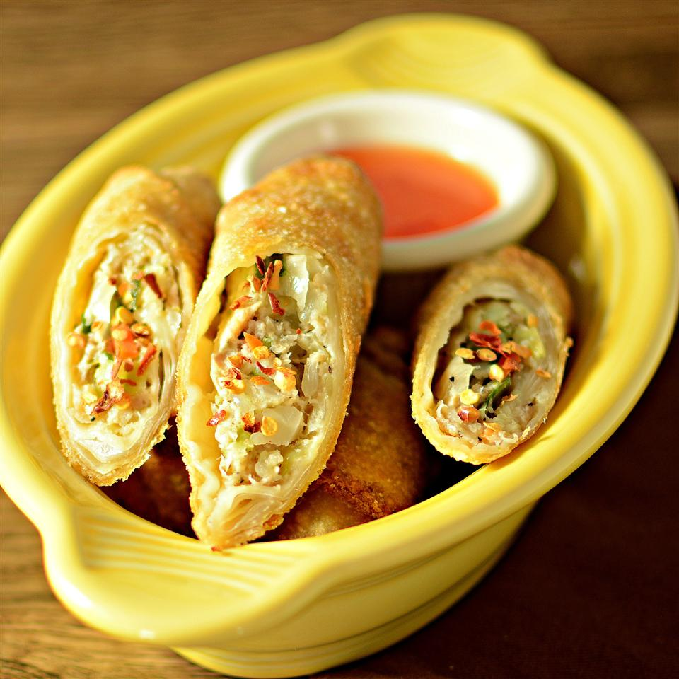 "Crispy fried Filipino egg rolls are filled with seasoned ground pork, onion, carrots, and celery. Make and freeze a big batch so they're always on hand. Bd.weld rates it 5 stars: ""This is by far the best lumpia recipe I have tried here on AR."""