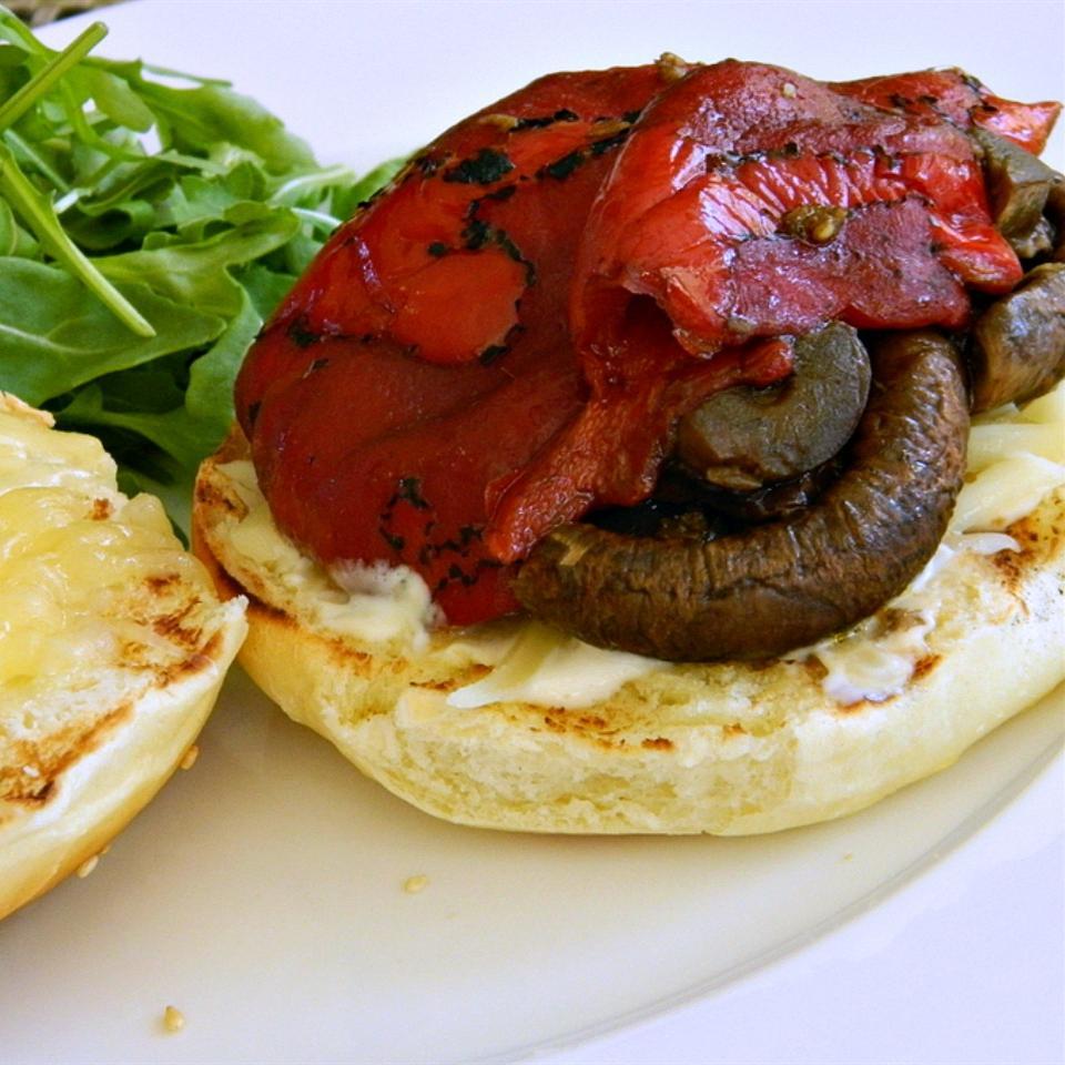 Grilled Mushroom Sandwich With Citrus Mayo sierra