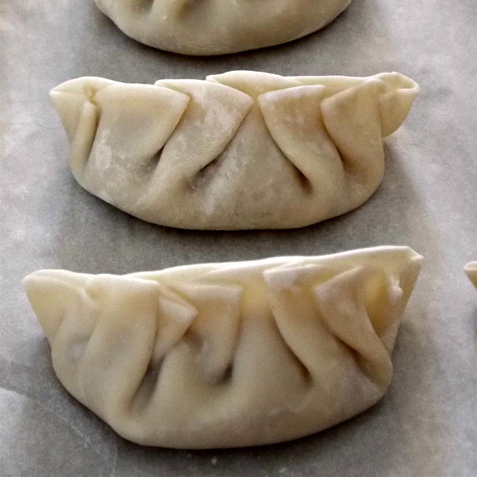 Chinese Dandelion Dumplings