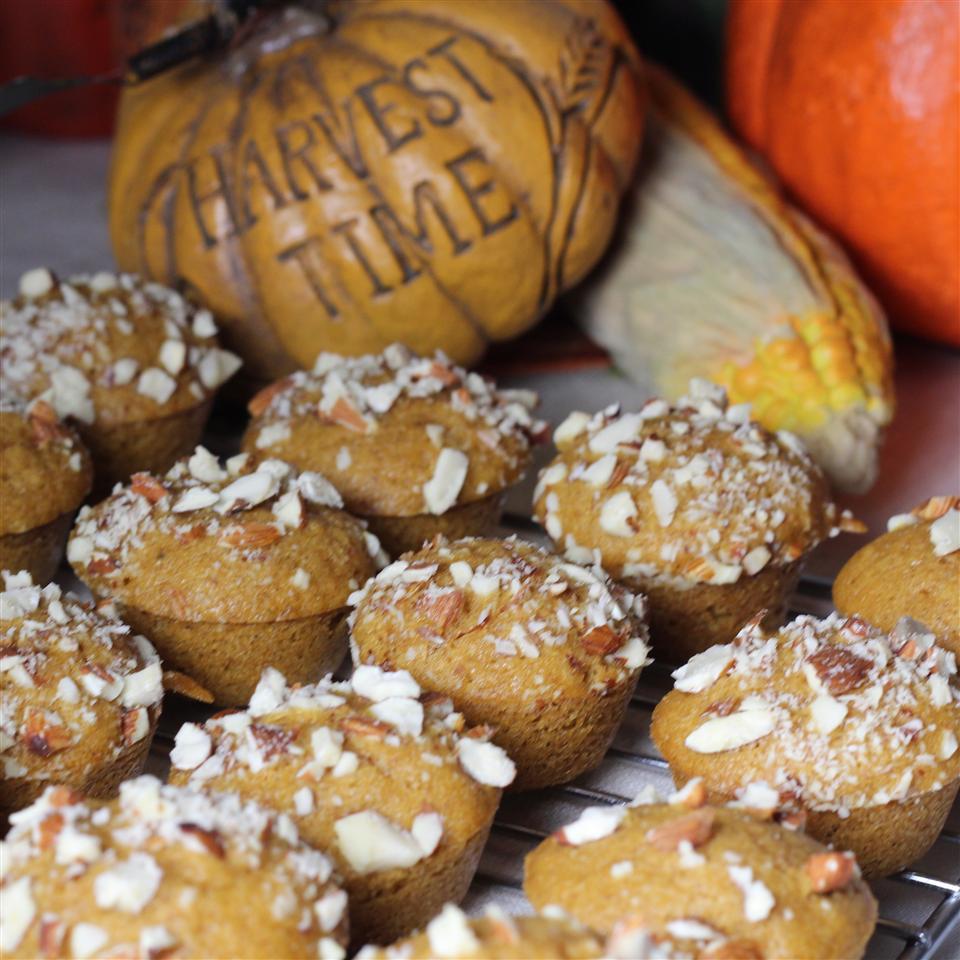 Pumpkin Almond Mini Muffins Sabrina Sperry