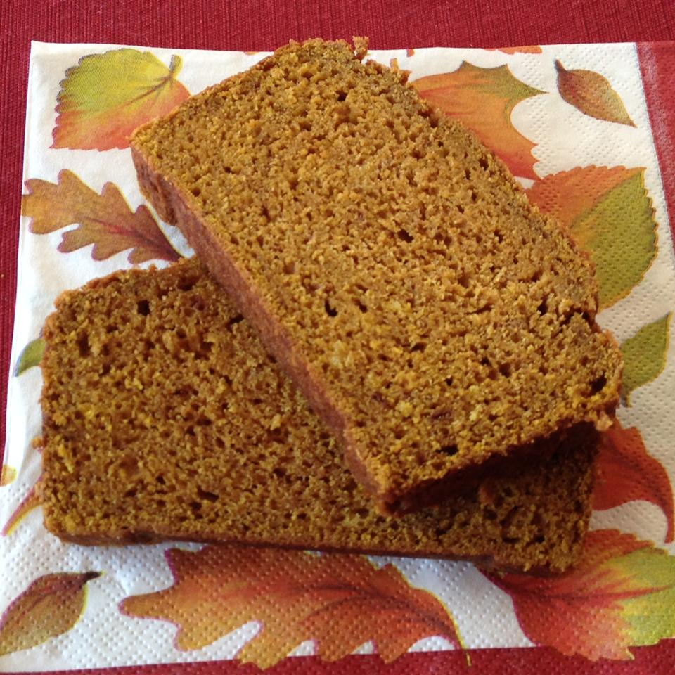 "This simple pumpkin bread can be made ahead of time, or the morning of in just under an hour. ""Made for my wife (she loves pumpkin bread) and she won't let me make a different recipe,"" says reviewer Michael Tyson."