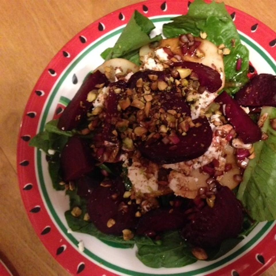 Roasted Beet, Peach and Goat Cheese Salad Deb Oldfield