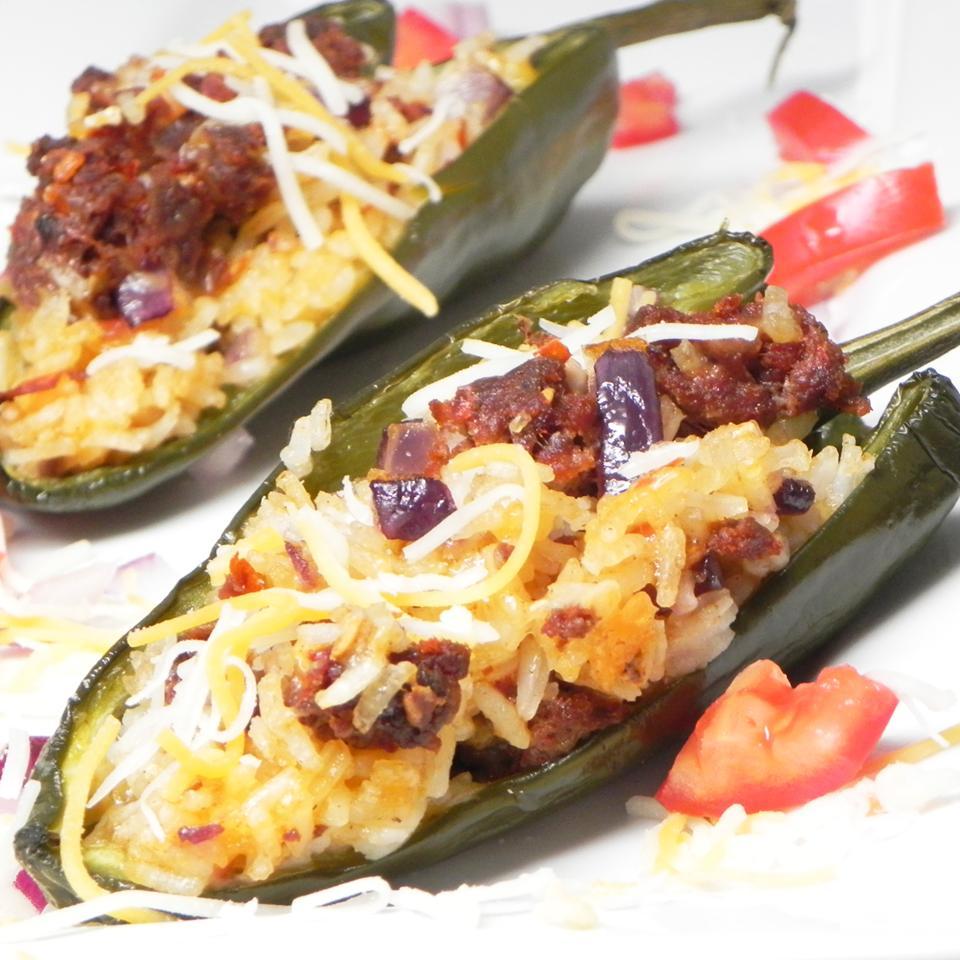 Chorizo Stuffed Poblano Peppers
