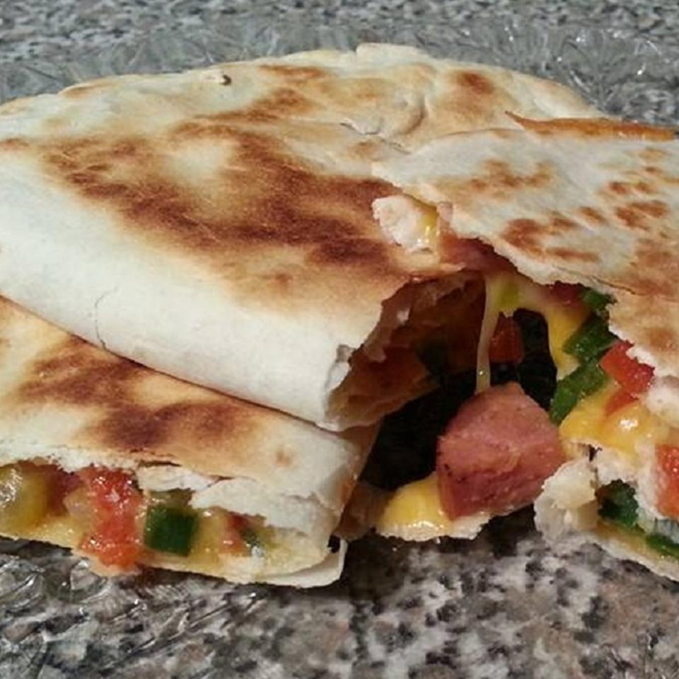 Andouille and Poblano Quesadillas Stephanie S
