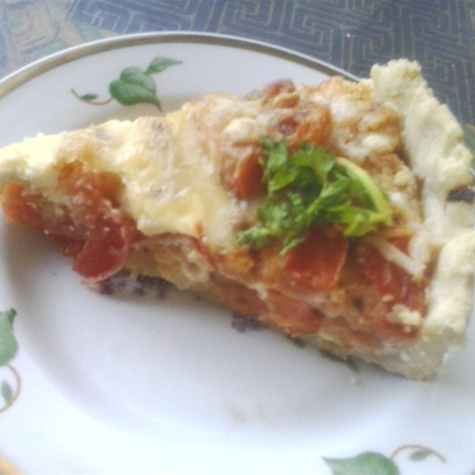 Tomato and Basil Quiche