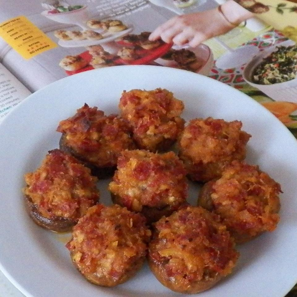Pepperoni Stuffed Mushrooms Christina