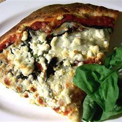 Basil Goat Cheese Pizza SunnyByrd