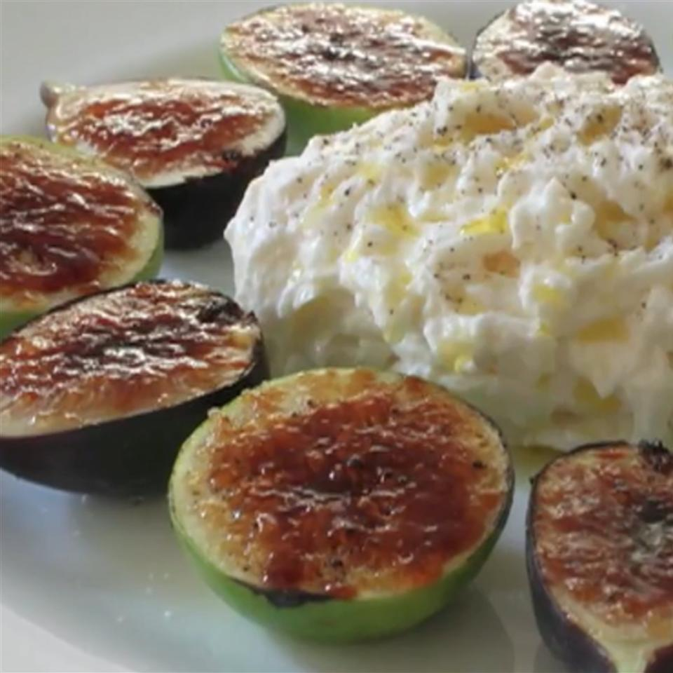 Fig Brulee with Burrata Cheese Chef John