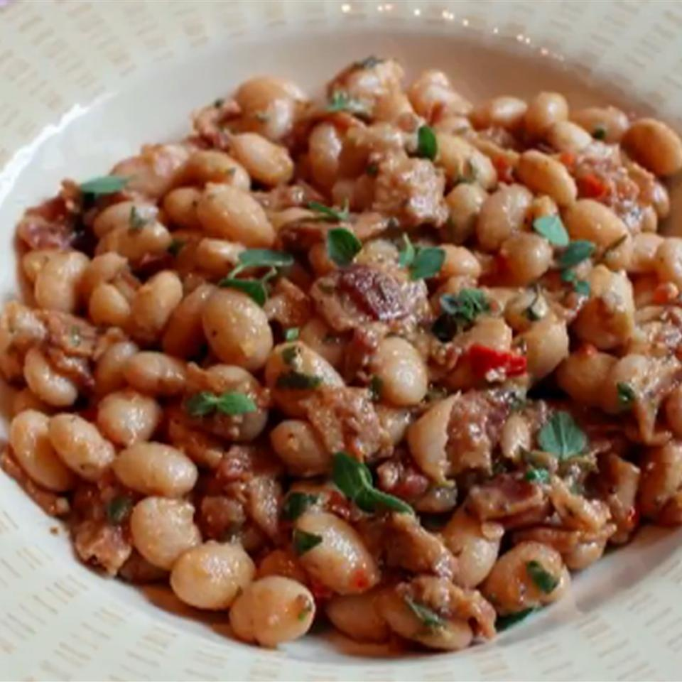 Bacon and Cranberry Bean Ragout