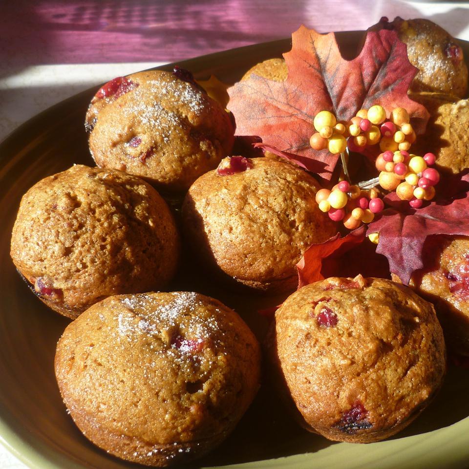 Quick Cranberry Pumpkin Muffins