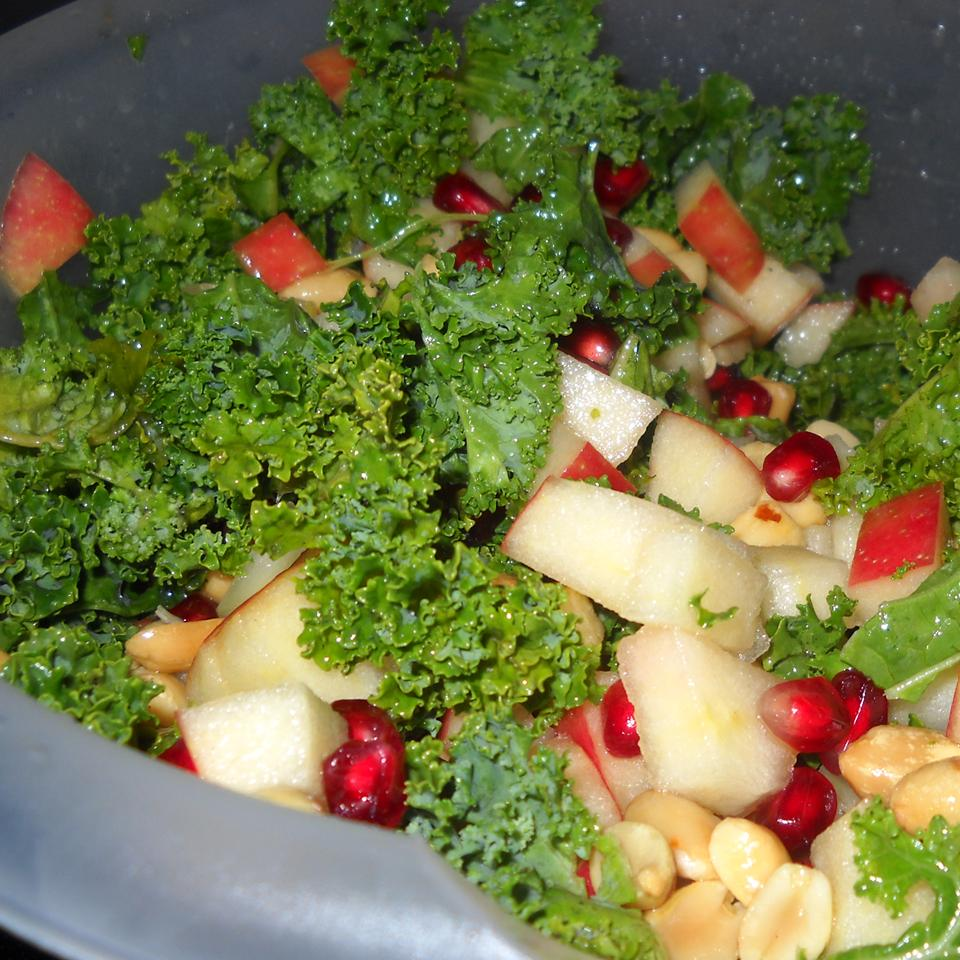 The Talk of the Potluck Kale and Apple Salad Rachel Traff