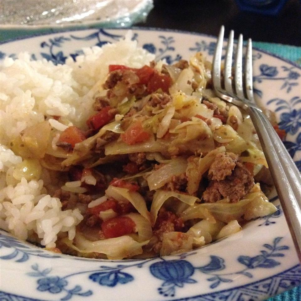Ground Beef and Cabbage nkwong