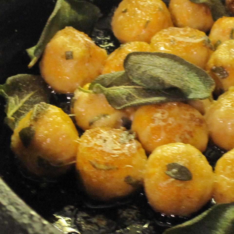 Sweet Potato Gnudi with Sage Butter