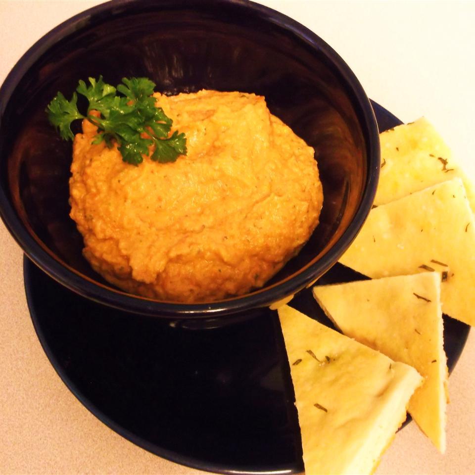 Spiced Sweet Roasted Red Pepper Hummus Ann Marie Natal