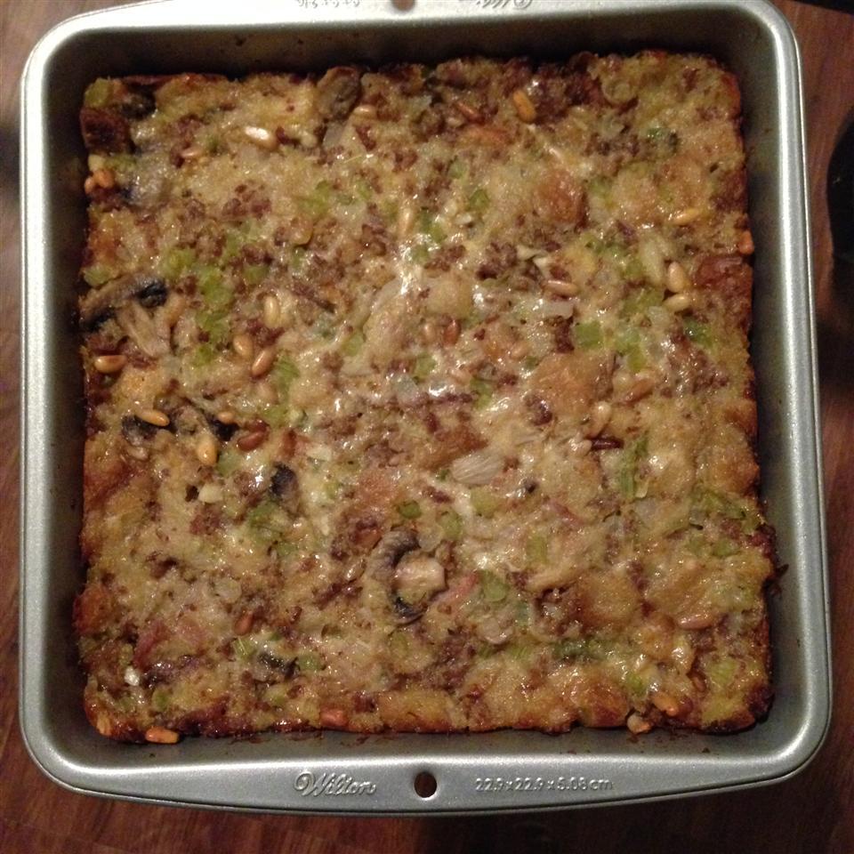 Southern Italian Thanksgiving Stuffing Mango Pudd
