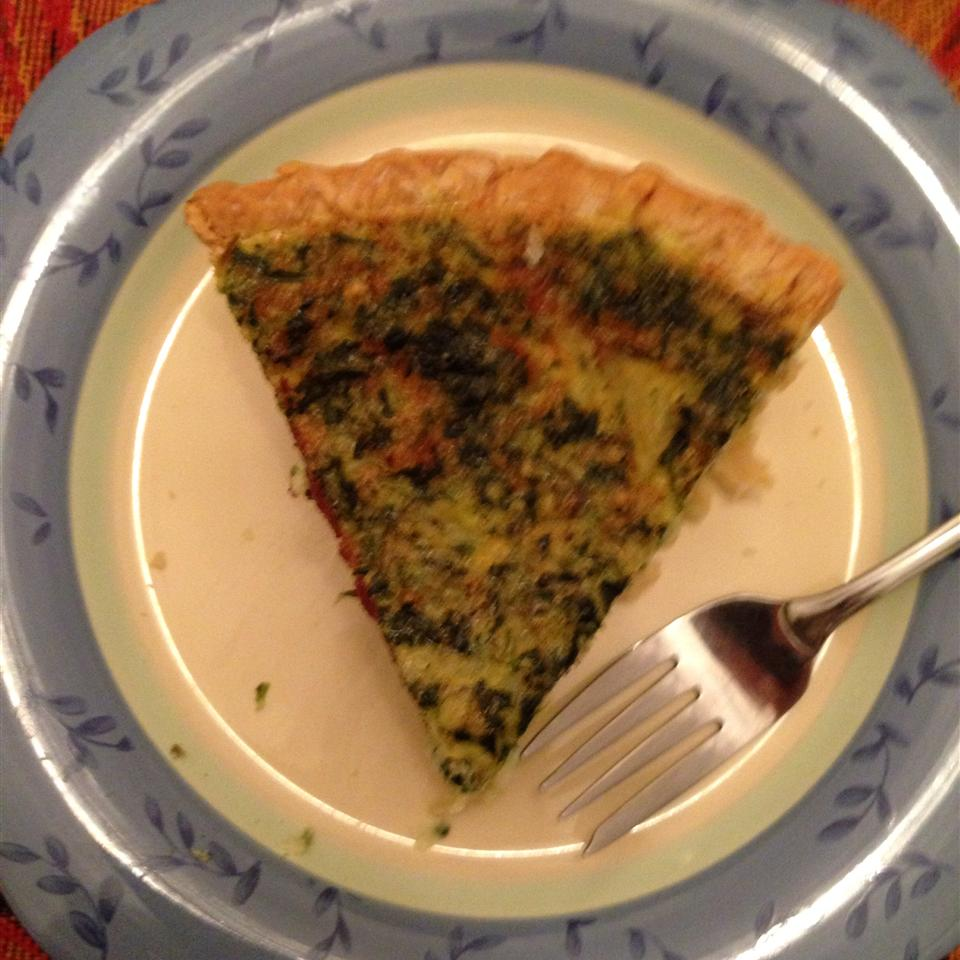 Spinach Quiche with Kid Appeal Gina