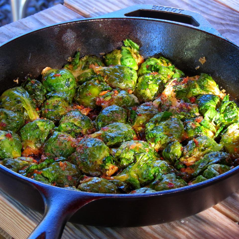 Pan Fried Brussels Sprouts Chefster
