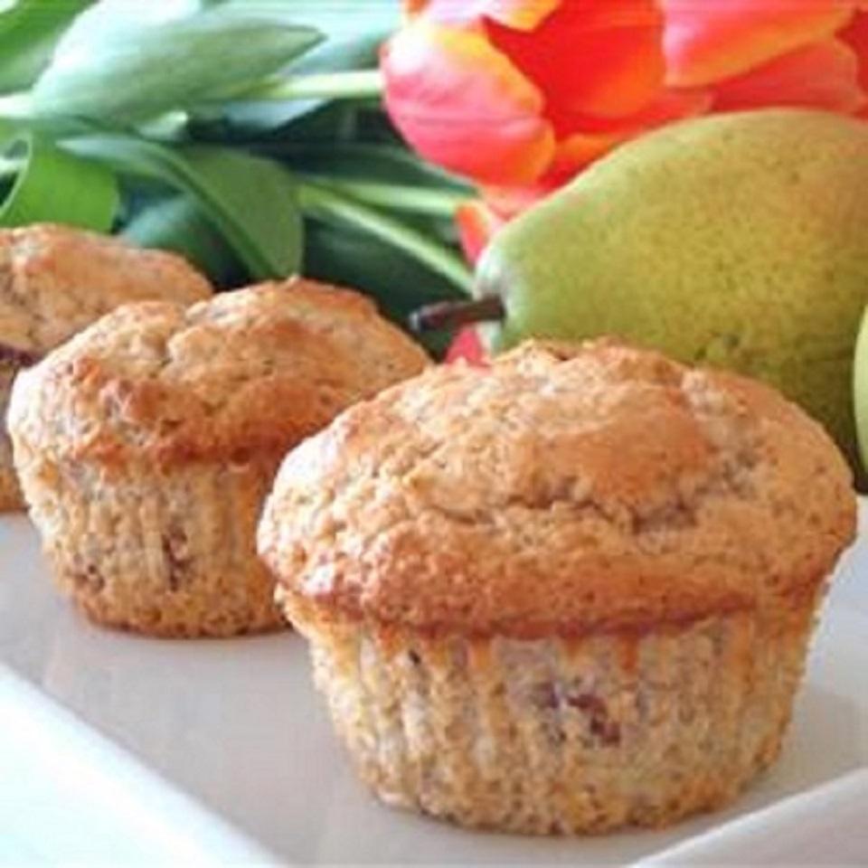 Vanilla Pear Muffins Alberta Rose