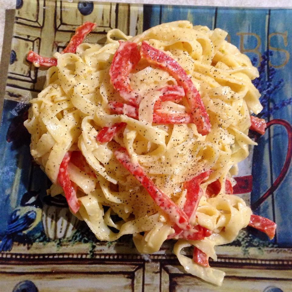 Fettuccine with Sweet Pepper-Cayenne Sauce
