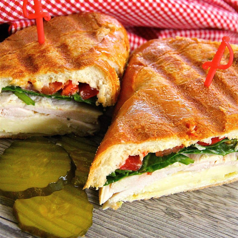 Grilled Turkey and Swiss Sandwich lutzflcat