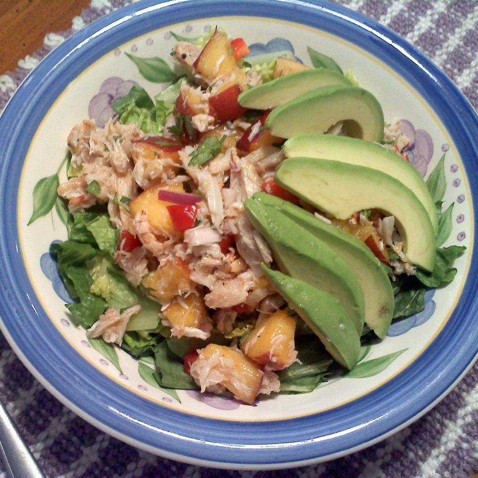 Crab & Avocado Salad with Fruit Salsa Angela W