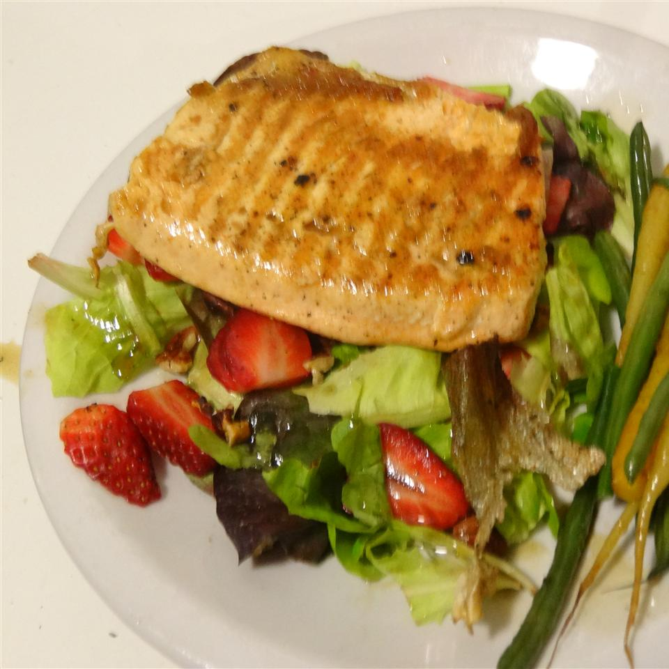 Grilled Arctic Char on Bed of Greens Andrea Z
