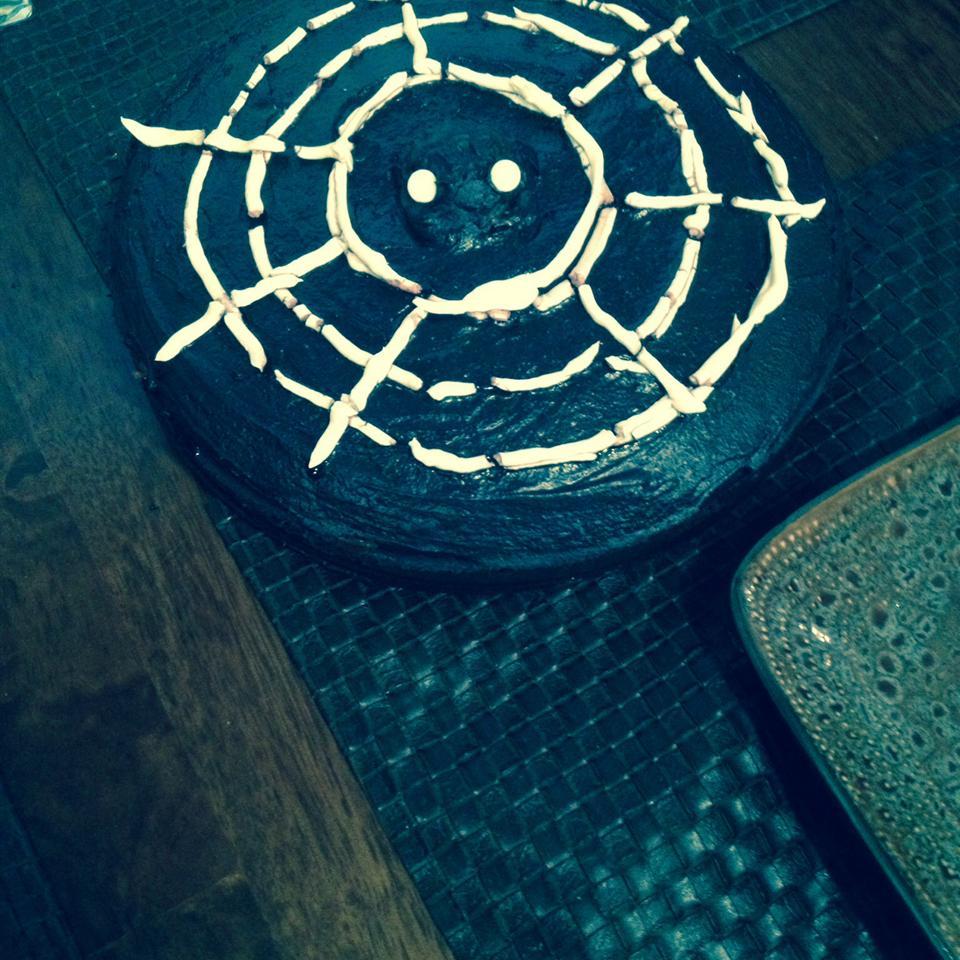 Spiderweb Pumpkin Cheesecake Bam