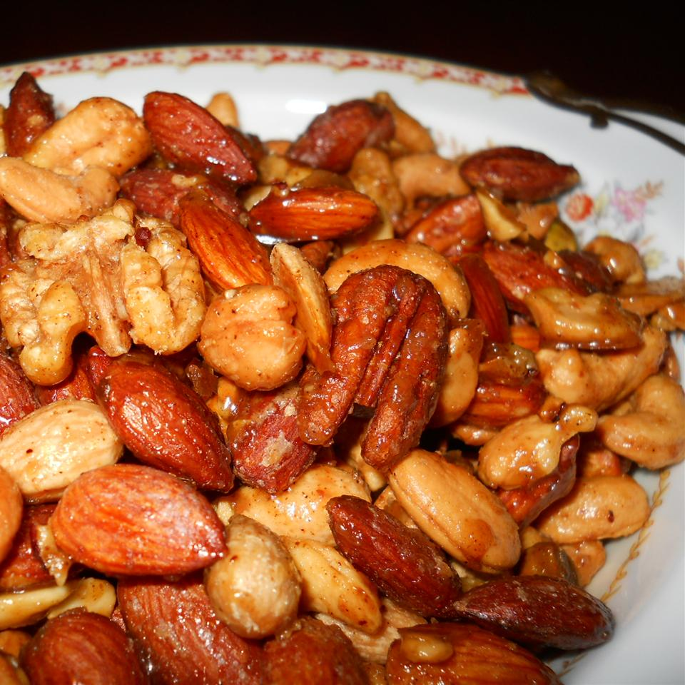 Sweet, Salty, Spicy Party Nuts NancyLou
