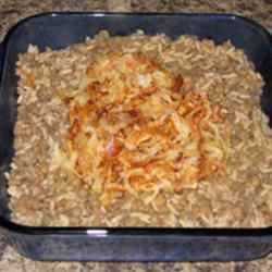Lentils and Rice with Fried Onions (Mujadarrah) Heather Moyer