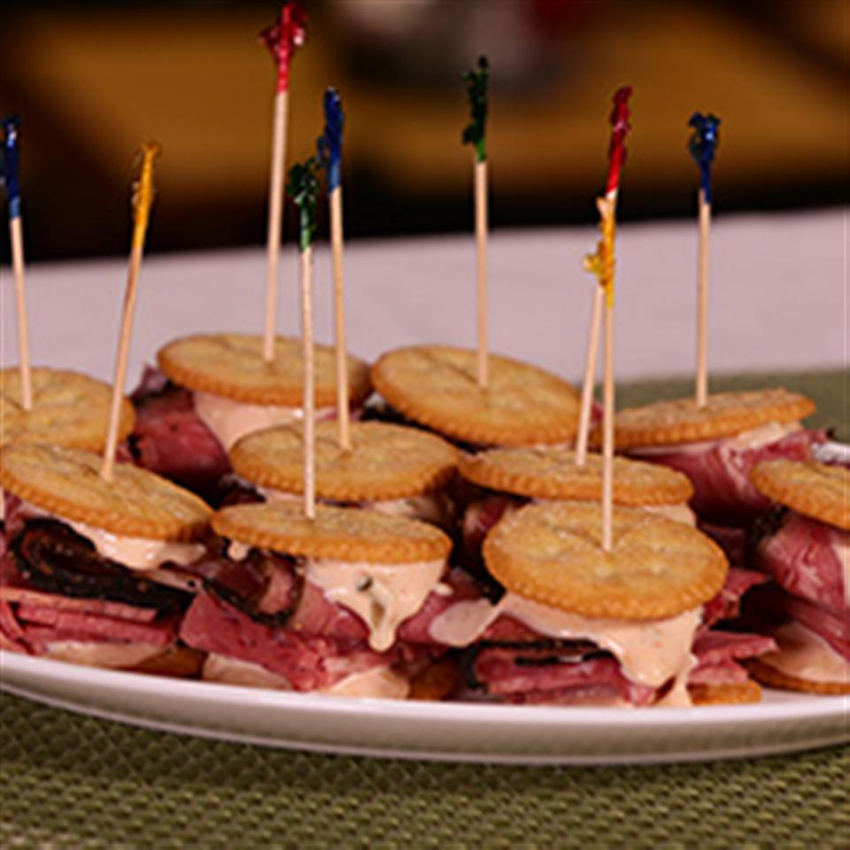 RITZ Pastrami and Corned Beef Mini Sandwich, created by Carnegie Deli Trusted Brands