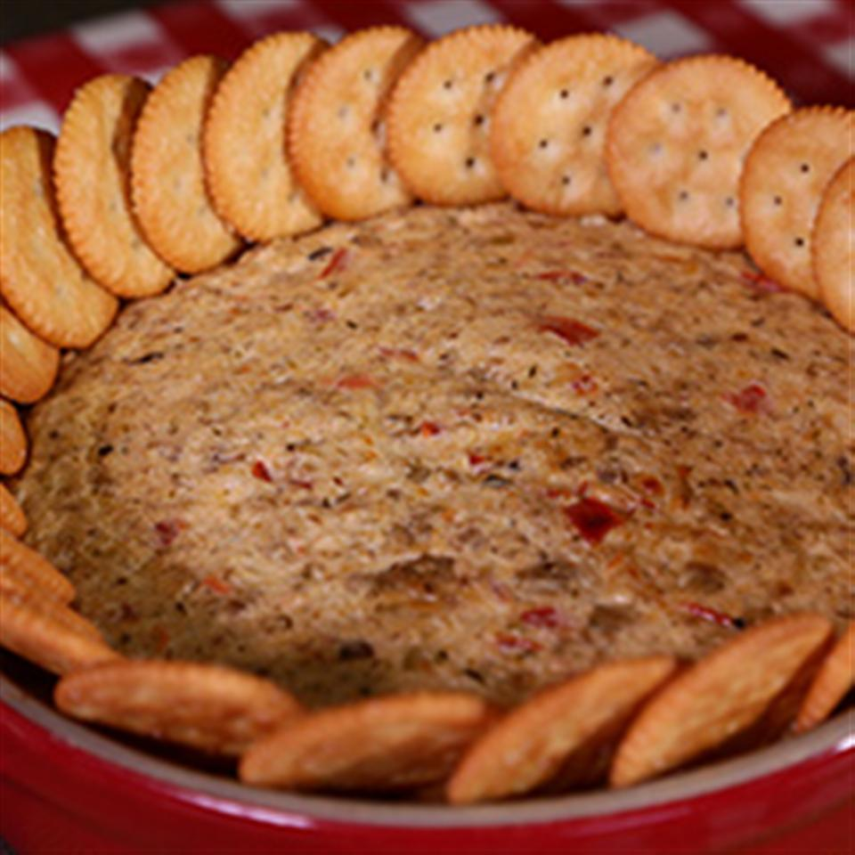 RITZ White Pizza Meatball Dip, created by Lombardi's Pizza Trusted Brands