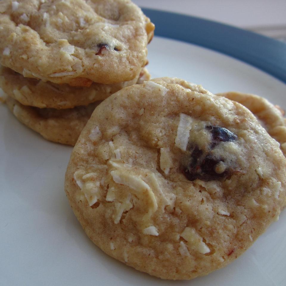 Raisin Coconut Treasure Cookies
