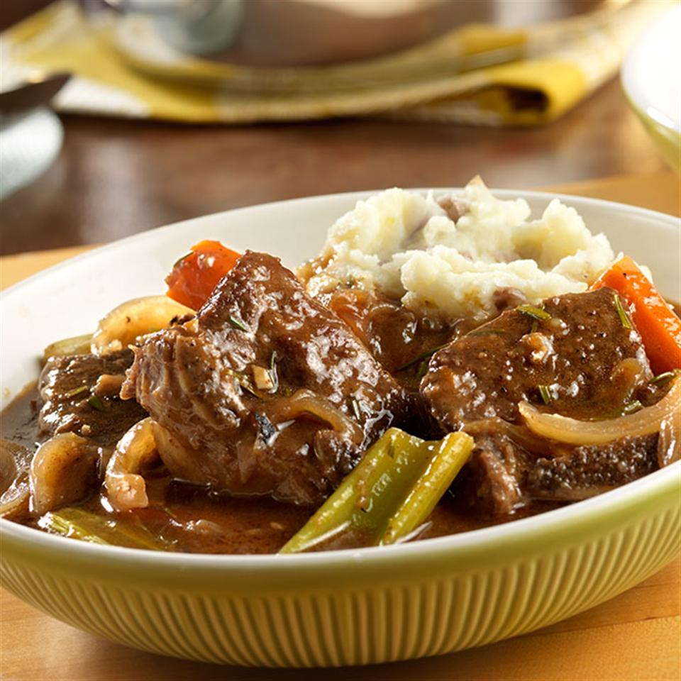 Red Wine Braised Short Ribs with Rosemary Trusted Brands