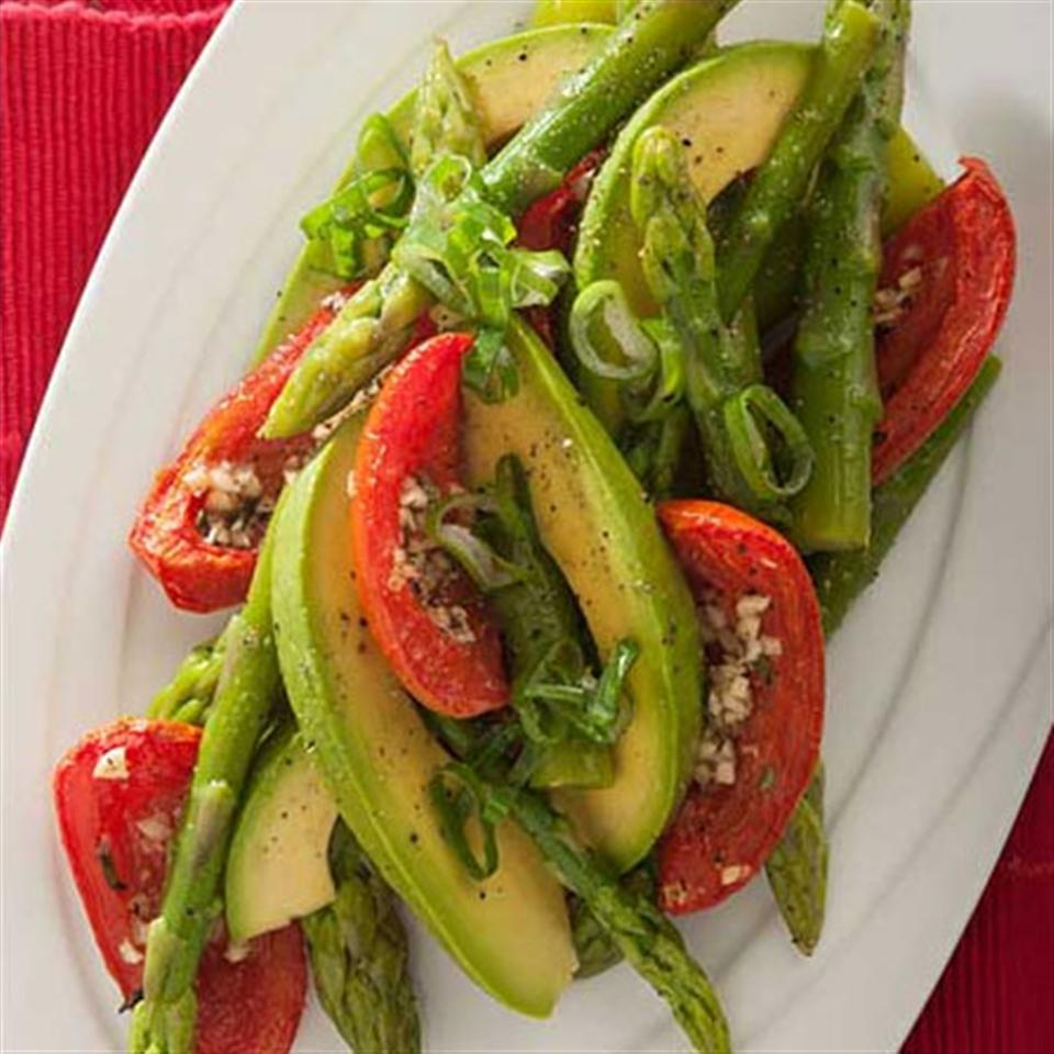 Asparagus, Avocado and Slow-Roasted Tomato Salad Trusted Brands