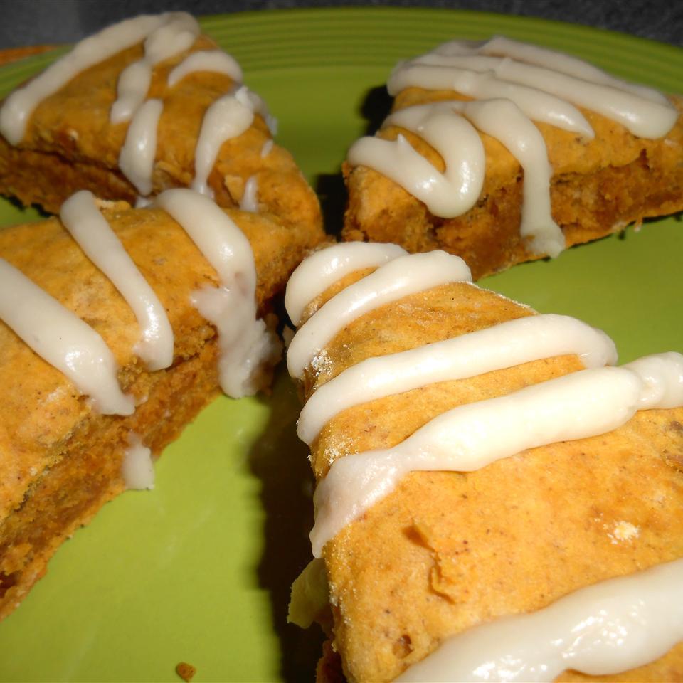 Pumpkin Scones with Brown Butter Glaze RainbowJewels