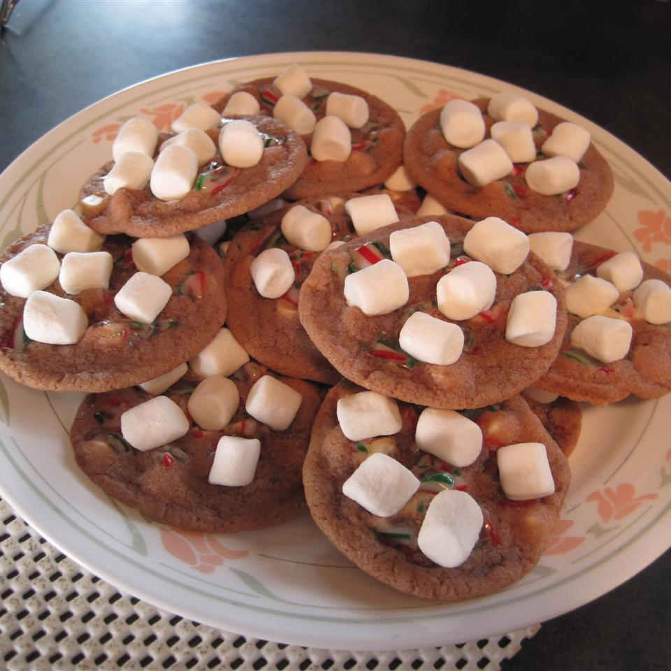 Candy Cane Hot Chocolate Cookies