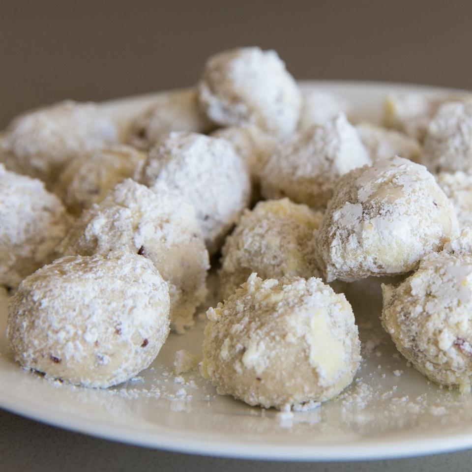 """Also known as Mexican Wedding Cakes or Russian Teacakes, these cookies are balls of dough with pecans rolled in confectioners' sugar. Reviewer Holly B. says, """"Note that these don't spread or rise, so you can bake a bunch on the cookie sheet, which makes the preparation time for these balls much less than the average cookie."""""""
