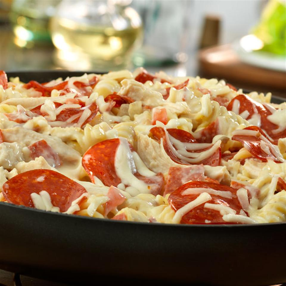 Pepperoni White Pizza Skillet Trusted Brands