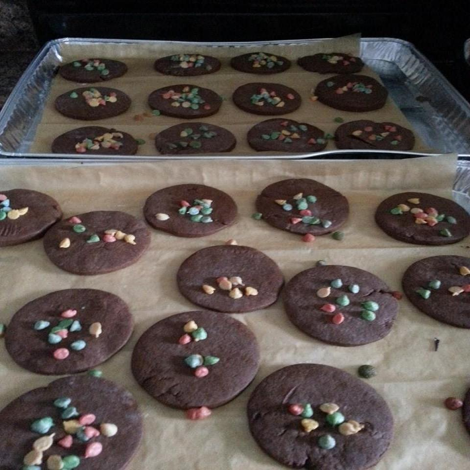 Italian Christmas Cookies with Cocoa and Orange Liqueur