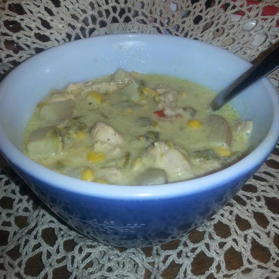 Papa Dar's Green Chile and Chicken Corn Chowder