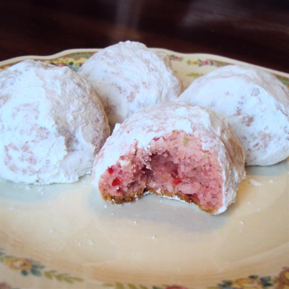 Cherry Snowball Cookies Tammy Lynn