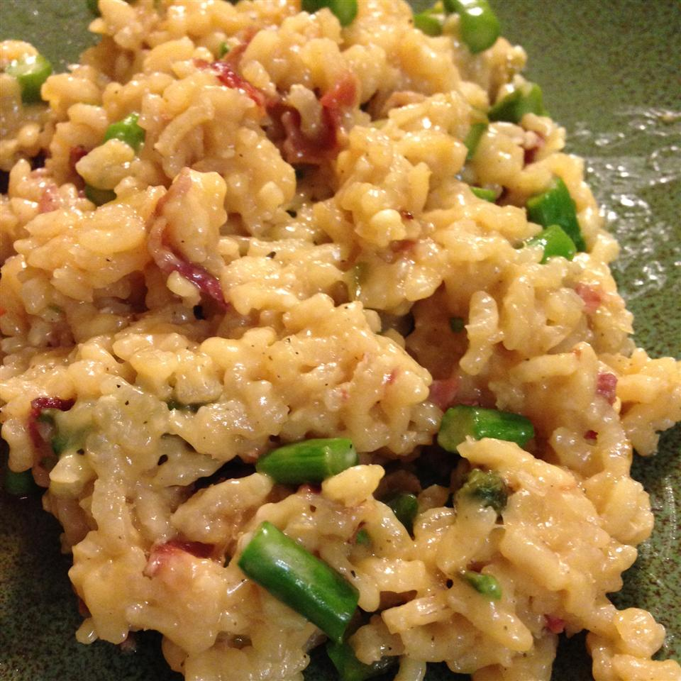 Risotto with Asparagus and Bison Bacon jjclashed