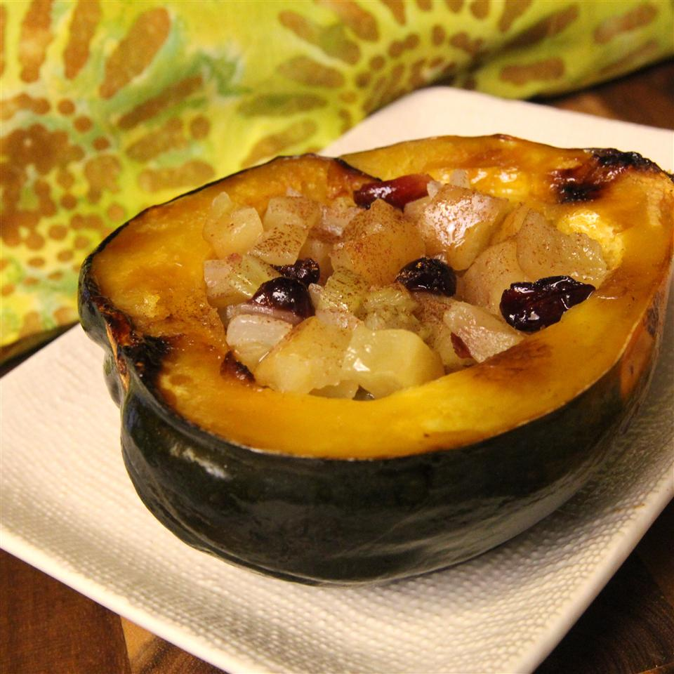 Baked Acorn Squash with Apple Stuffing Rebecca