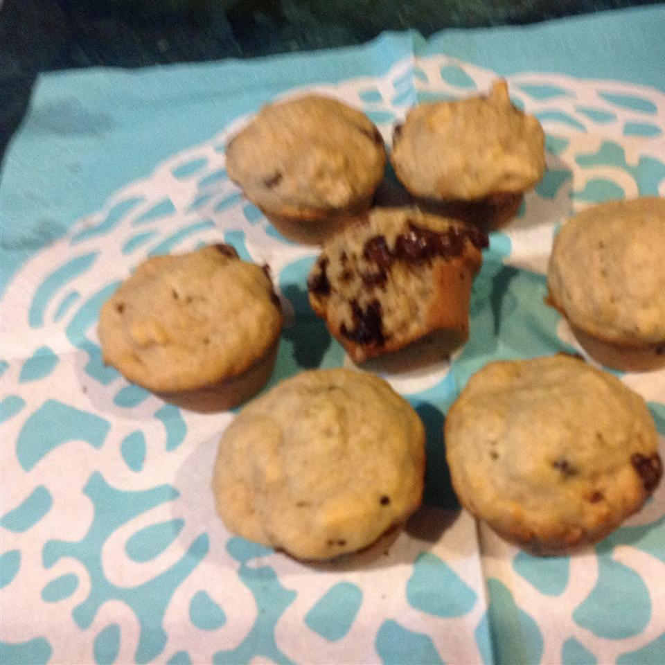 Most Requested Banana Chocolate Chip Muffins datmathgirl
