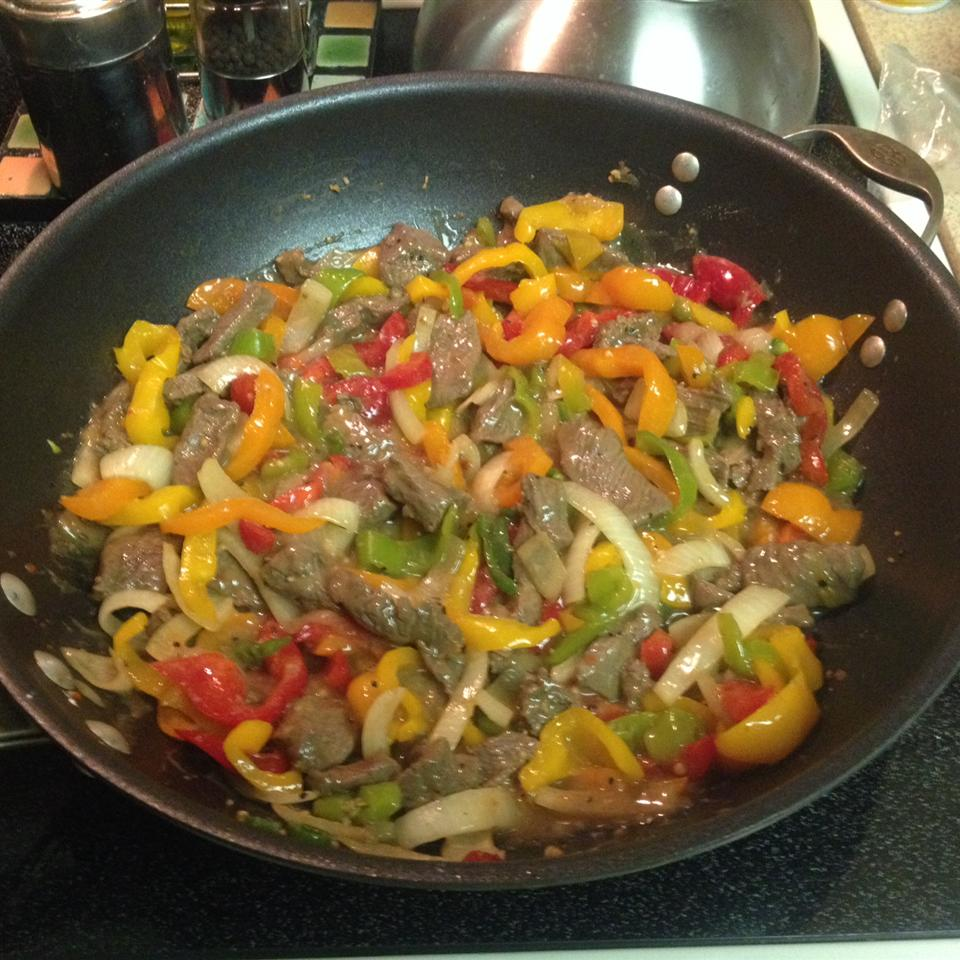 Venison Steak with Peppers and Onions Alicia Camper