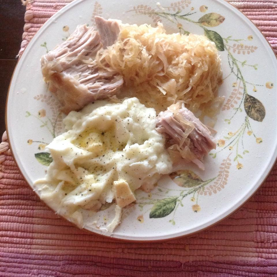 Pork Roast with Apples, Beer, and Sauerkraut Barbara