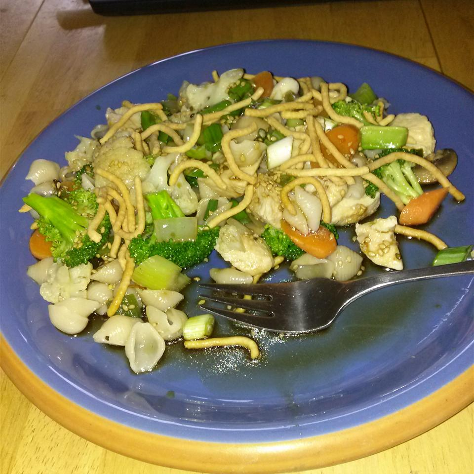 Asian Chicken Pasta Salad BIKERKATZ